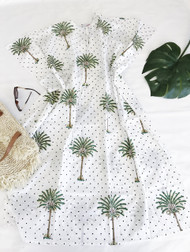 Polka Dot Palm Trees Kaftan