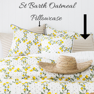 St Barth Oatmeal  Pillow Case