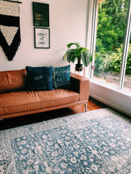 Boho Hamptons Upcycled Rug