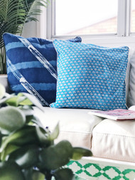 Capri Blue Elephant cushion cover