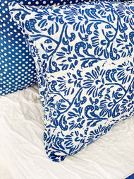 Indigo Batik Pillowcase