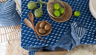 Indigo Little Fish Tablecloth(150 X 220 CM)