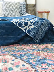 Indigo Billy Buttons Throw Sold Out