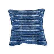 Indigo Dots and Stripes  Cushion Cover