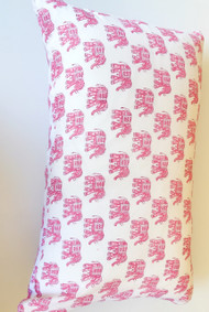 Boho Pink Elephant pillowcase
