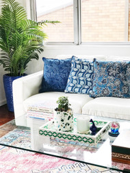 Blue Nankeen Cushion Cover