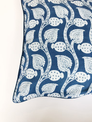 Indigo Pomegranate Vines  Euro Cushion Cover