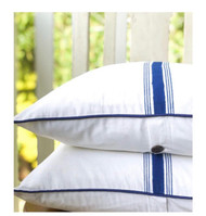 Cobalt Blue Grain Sack Stripes Cushion Cover