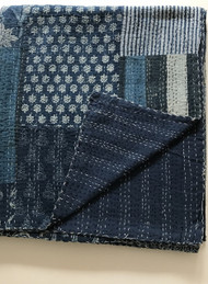 Palm Beach Patchwork Kantha Quilt