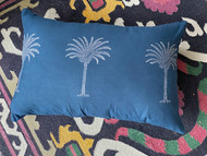 INDIGO PALM PILLOWCASE