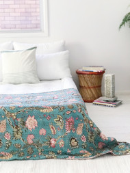 Le Jardin Kantha Quilt -Single Size