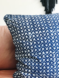 Indigo Lattice Euro Cushion Cover
