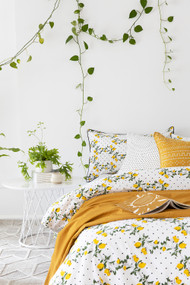 Capri Limoncello King Quilt Cover