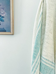 Aquamarine French Stripes Throw