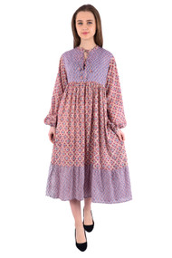 Amethyst Chintz  dress -Medium/Large size