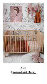 Palme D'or Bohemian  Baby Quilt