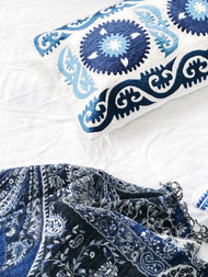 Indigo Suzani   Cushion Cover