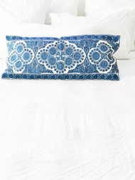 Indigo Embroidered   Cushion Cover