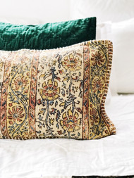 Mustard Kalamkari  Cushion Cover