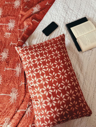 Rust Phulkari Pillowcase