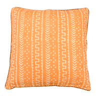 Tangerine Tribal linen Cushion Cover