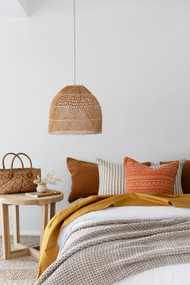 Apricot Tribal Linen Cushion Cover
