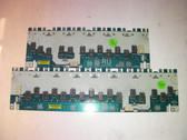 SAMSUNG LN-S5296D RIGHT UPPER & RIGHT LOWER INVERTER BOARD SET INVST520B(RU) & INVST520B(RL)