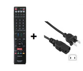 SHARP LC-80LE844U REMOTE CONTROL AND POWER CORD COMBO
