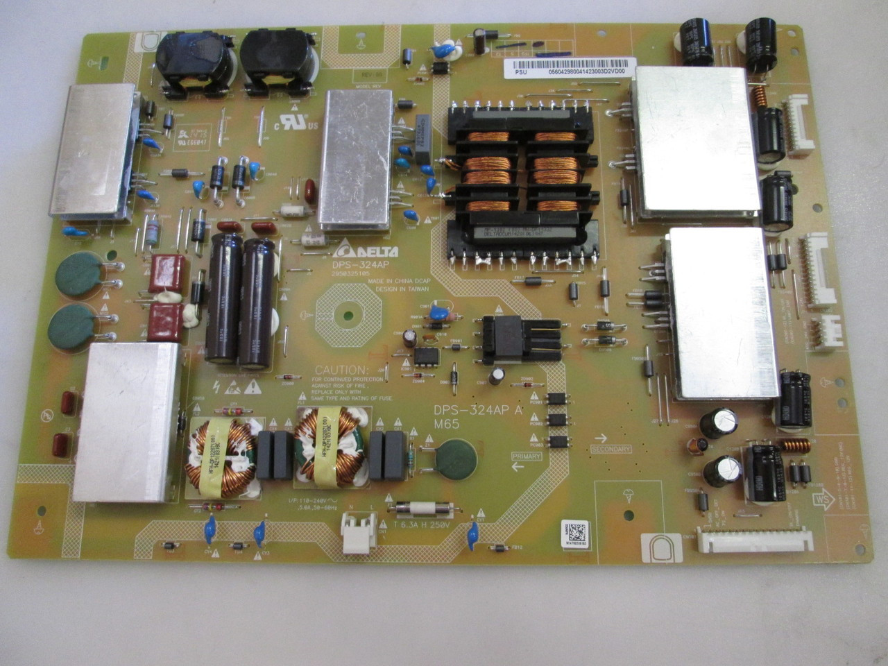 VIZIO M652I-B2 POWER SUPPLY 056 04298 0041 , tv parts , DPS-324AP