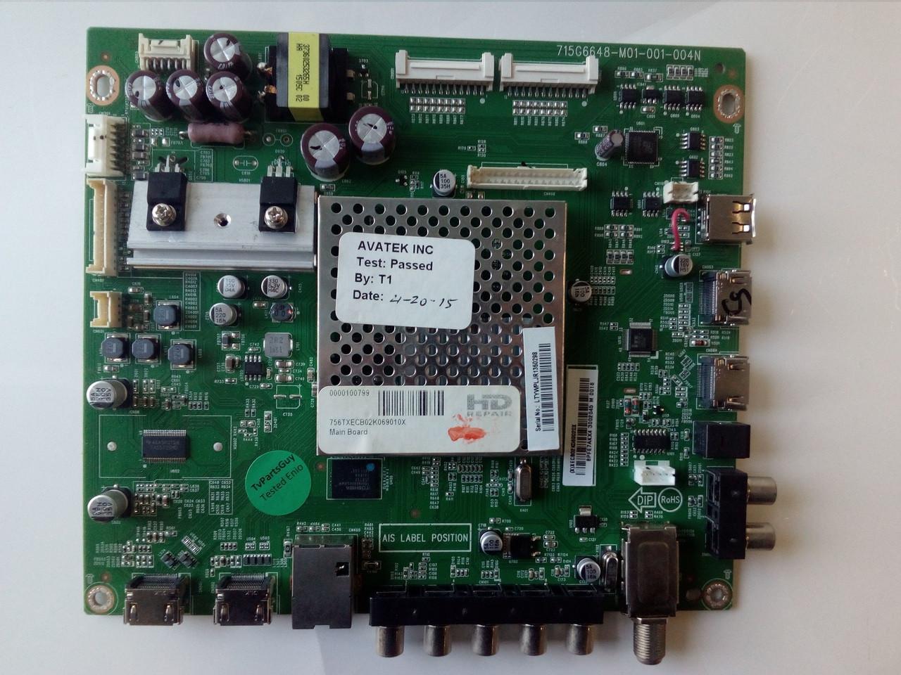 VIZIO E500I-B1 MAIN BOARD 715G6648-M01-001-004N