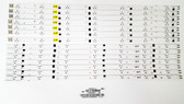 Samsung LED Light Strips complete set BN96-24611A & BN96-24612A