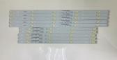Vizio E550I-A0 LED Light Strips Complete set of 10 IC-C-VZAA55D189