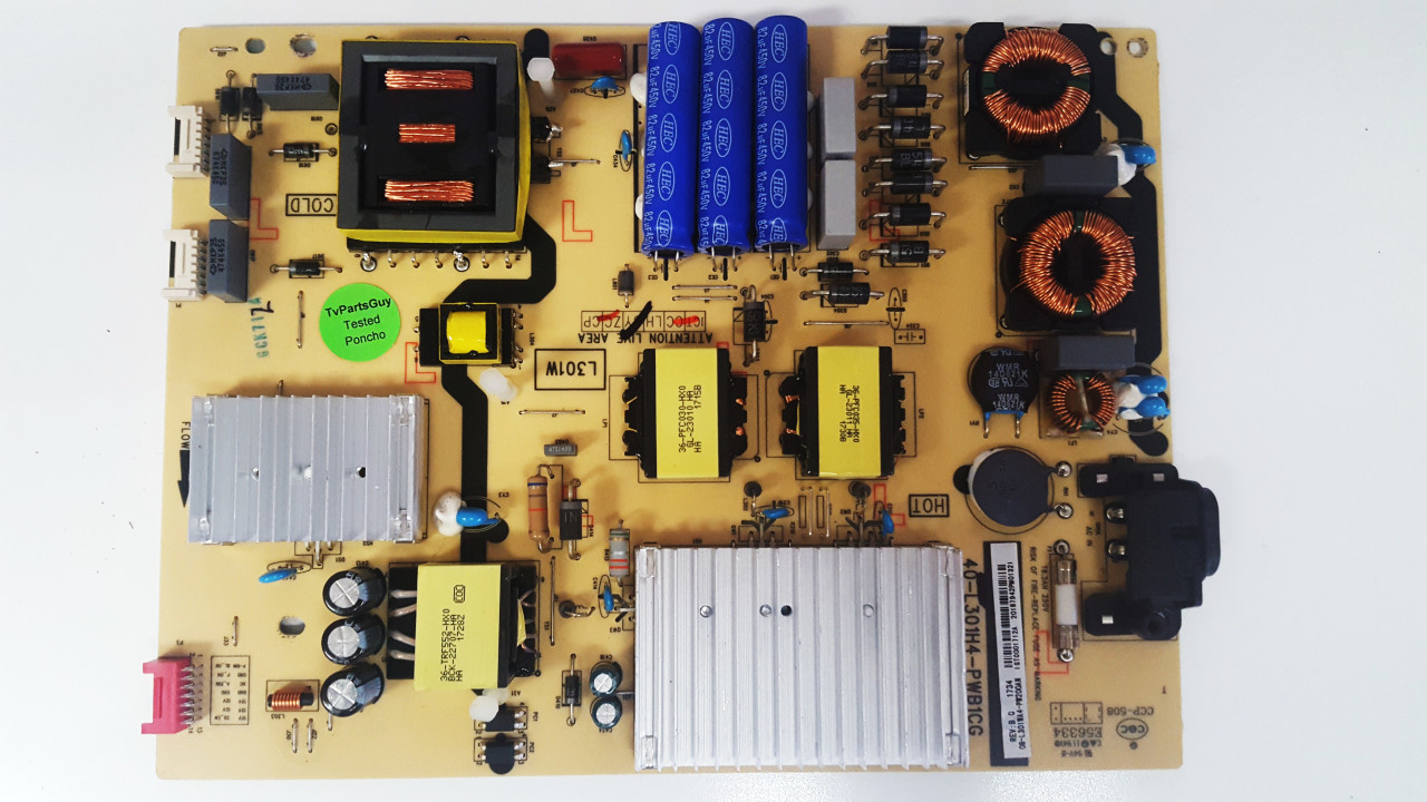 TCL 65S401 Power Supply board 40-L301H4-PWB1CG / 08