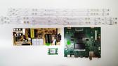 TCL 55S421 Main board w/ Wifi module & Power Supply board & LED Light Strips KIT V8-ST10K01-LF1V1286 & 08-L12NLA2-PW200AA & LB5507