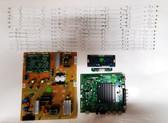 Vizio E65-E0 Power Supply board / Main board w/ WiFi Module / Tcon board & LED Light Strips set of 12 kit 0500-0605-1140 / 3665-0552-0150 / 0980-0140-0942 / 5565T50C13 /  IC-B-VZAA65D761A & IC-B-VZAA65D761B