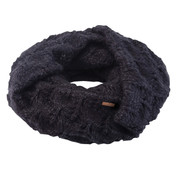 Coal The Madison Scarf Eternity Open Knit Heather Black