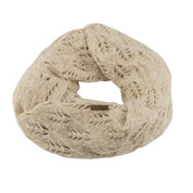Coal The Madison Scarf Eternity Open Knit Creme