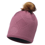 Buff Chic Stella Primaloft Knitted Beanie Bobble Hat Heather Rose