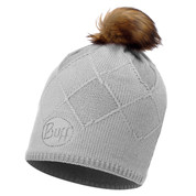 Buff Chic Stella Primaloft Knitted Beanie Bobble Hat Glacier Grey