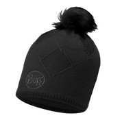 Buff Chic Stella Primaloft Knitted Beanie Bobble Hat Black