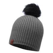 Buff Daily Adalwolf Knitted Beanie Bobble Hat Steel
