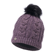 Buff Daily Darla Primaloft Knitted Beanie Bobble Hat Purple
