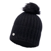 Buff Chic Glen Primaloft Knitted Beanie Bobble Hat Black