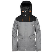 Wear Colour Mens Charge Ski Snow Jacket Grey Melange