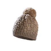Starling Chunky Bob Fleece Lined Beanie Bobble Hat Beige