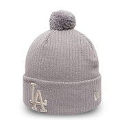 New Era MLB Womens Sport Waffle Knit Los Angeles Dodgers Gray Beanie