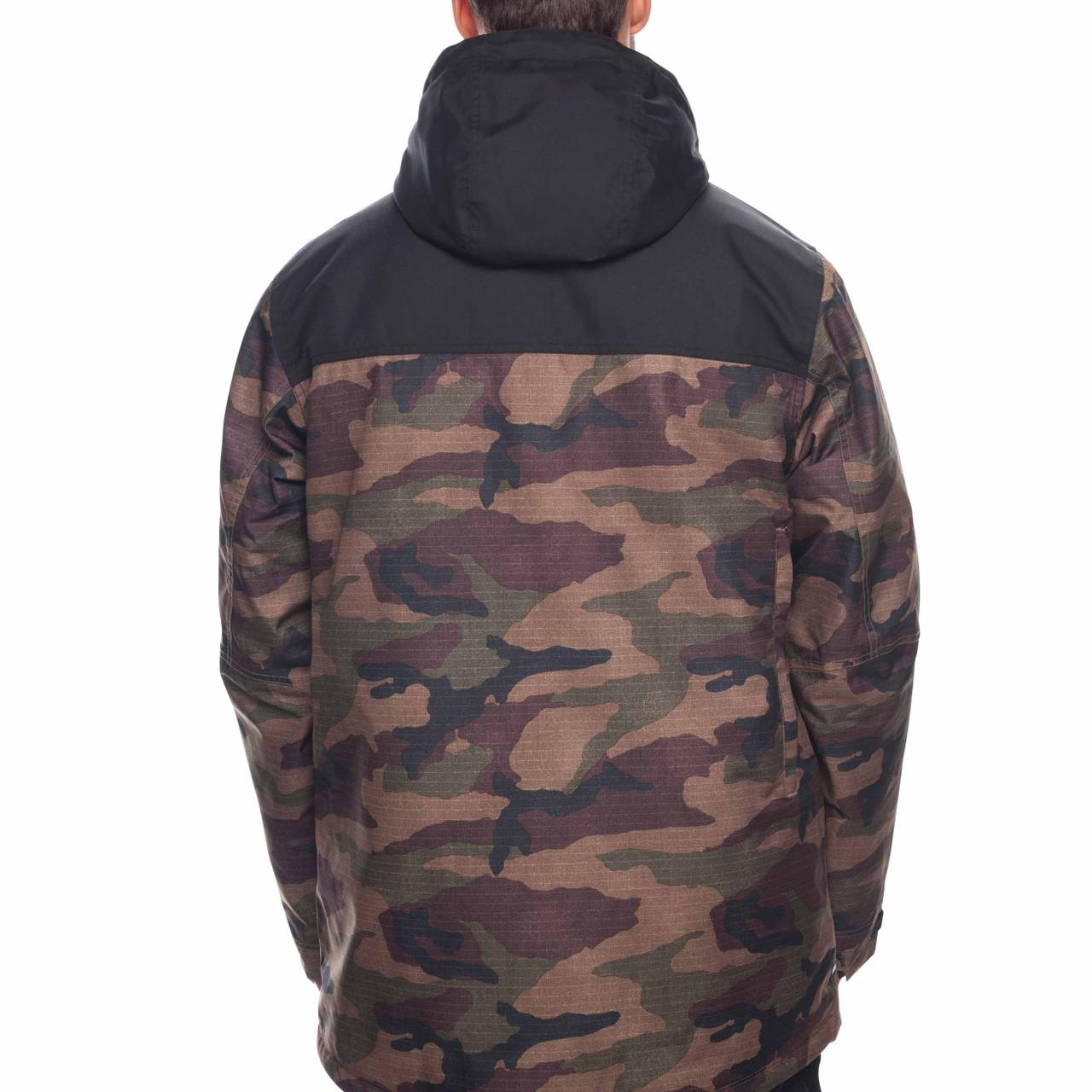 508fc76a7 686 Mens Sixer Insulated Ski Snowboard Jacket Dark Camo Colorblock ...