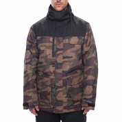 686 Mens Sixer Insulated Ski Snowboard Jacket Dark Camo Colorblock