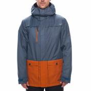 686 Mens Anthem Insulated Ski Snowboard Jacket Bluesteel Melange Colorblock