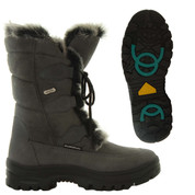Mammal Womens Winter Ice Grip Mid Calf Boots Oribi OC Grey